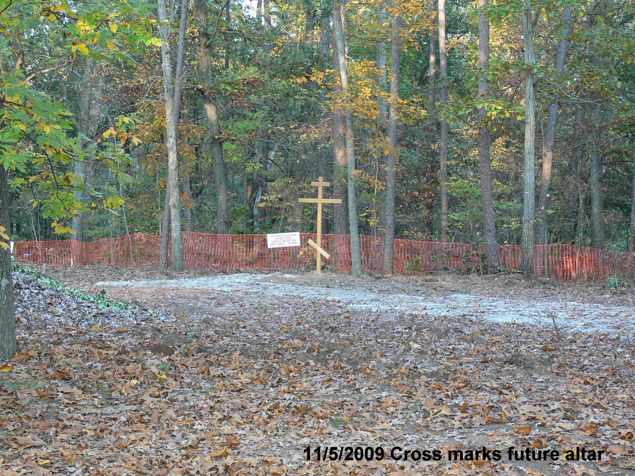 Cross Marks Future Altar